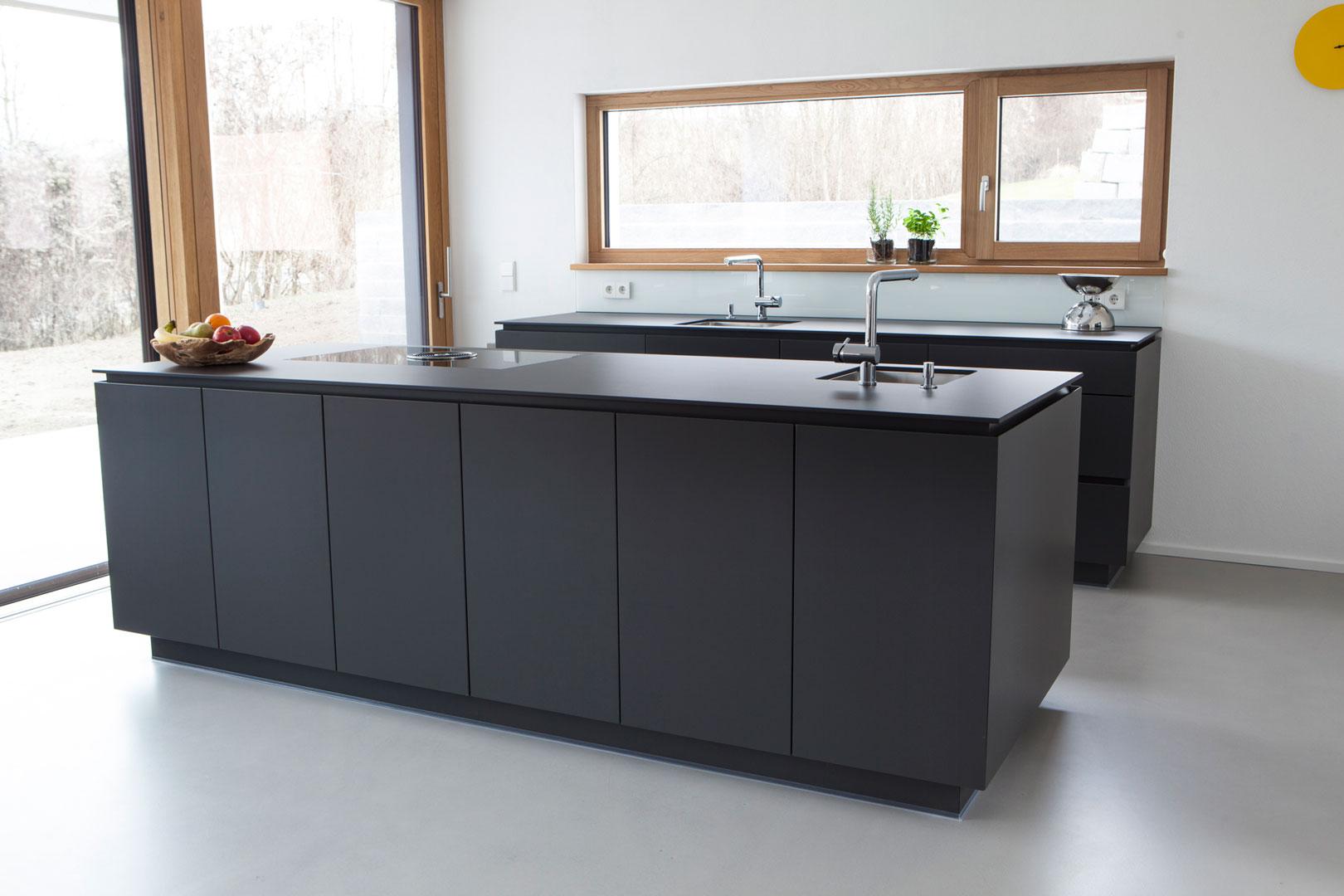 anthrazit kuche. Black Bedroom Furniture Sets. Home Design Ideas